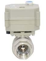 DC12V/24V 3 wires BSP/NPT 1/2'' full port SS304 motorized valve with manual override and indicator