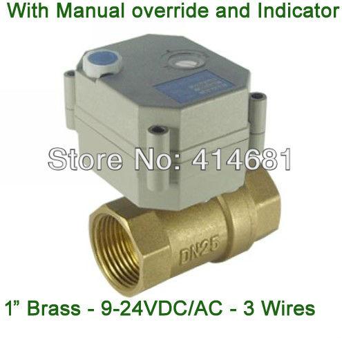 Messing dc ac9 35v elektrische verwarming ventiel dn25 elektrische