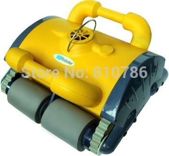 Free Shipping Swimming Pool auto cleaner With Spot Cleaning, Wall Climbing+Remote Controller+15m Cable+Working Area:100m2-200m2