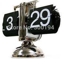 Single vintage auto flip clock small balance clock classic flip clock creative clock