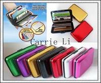 Free Shipping (400pcs/lot) Aluminum Wallet As Seen On TV Aluma Wallet Credit Card Holder RFID Blocking--8Colors