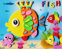 Cartoon 18pcs EVA Handmade 3D Puzzles DIY Kids Hand Stereo Stickers Painting Children's Gift Educational Toys