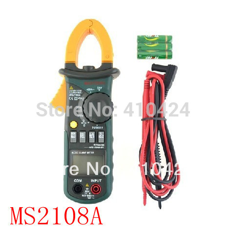 Free shipping ! MS2108A 4000 AC DC Current Clamp Meter backlight Frq Cap CATIII vs FLUKE hol(China (Mainland))