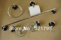 Free shipping! 6pcs zinc bathroom accessors set,glass bath hardware set
