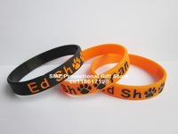 Ed Sheeran Inspired wristband,silicone bracelet,filled in colour,2 colours,promotion gift,100pcs/lot,free shipping