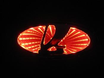small size 3D LADA LED Laser Light  Car Trunk LogoLamp Rear Badge Emblem Sticker