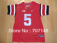 New Style Ohio State Buckeyes Baxton Miller #5 Red College Football Jersey -Free Shipping