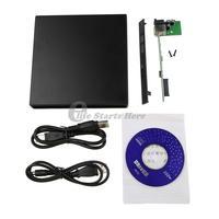 1Pcs Portable USB 2.0 DVD CD DVD-Rom SATA External Case Slim for Laptop Notebook DropShipping
