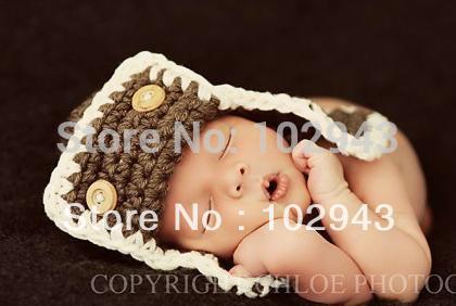 Aviator Crochet Baby Hat | AllFreeCrochet.com