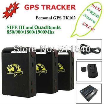 Free Shipping 4bands Child kids GSM GPRS TK102 GPS Tracker satellite tracking mini pet gps tracker