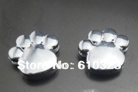 Wholesale New 100pcs 8mm Enamel paw slide charm DIY accessories Jewelry Findings