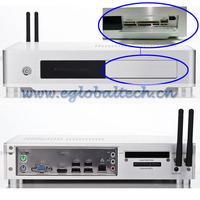 Wireless Mini ITX Case using Intel Core I3 Montherboard 3.2GHz CPU Remote Desktop Embedded Linux Server 2G RAM, 16G SSD Smart PC