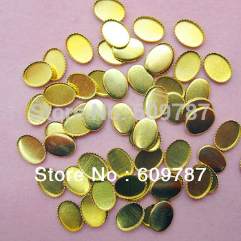 Free Shipping-metal base plate for glitter stone 200pcs /lot Nail Art Decoration gold  base