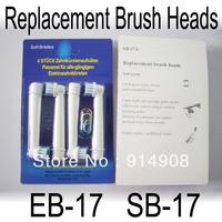Free shippig 3200pcs/lot EB17-4 SB-17A electric toothbrush heads bursh heads 4 soft bristles (1pack=4pcs)
