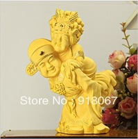 YZ-RHQ005 CBRL gold craft/24K gold craft/art gift/ China traditional Bride and Groom wedding figurines decoration