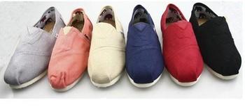 new women and men flats canvas shoe single shoes