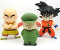 Free shipping Dragon Ball figure 3pcs/set toys high quality Kakarotto/Son Goku/Kuririn/Piggie 4.8''