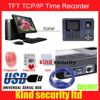 lowest price for ZDC90T Biometric Fingerprint Time Attendance SYSTEM  with ID CARD TFT COLOR SCREEN TCP IP USB FREE SHIPPING