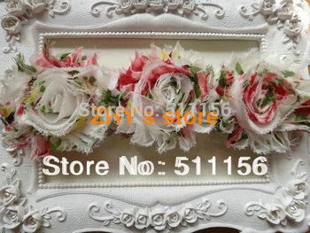 Free shipping 20pcs Shabby Flower Elastic Headband for baby and children newborn toddler headband