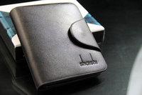 Trend Fashion Men's Black Leather Wallet Pockets Card Clutch Centre Bifold Purse High Quality Hot Sale