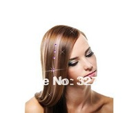 TOP Crystal Clip In Hair Accessories Extensions 7 Color Wire Extension crystal clip in hair bling