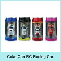 4pcs/lot 4 Channels 1:64 Coke Can Mini Rc Car Radio Micro  Mini Racing Remote Control Car High Speed Toy Gift Drop Shipping