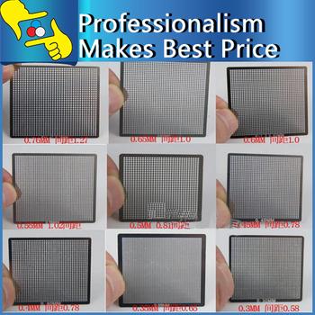 10pcs/set  Universal Direct Heating BGA Reballing Stencils  0.3 0.35 0.4 0.5 0.6 0.76 10 each 1 piece Freeshipp