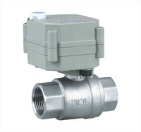 3 Wires SS304 Full Port NPT/BSP 3/4'' two way motor operated valve DC12/24V with manual override for water heating