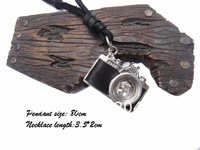 New 2013 Fashion High Quality P481 leather necklaces,mens charm choker Camera Necklaces & Pendants,men jewelry,handmade jewelry