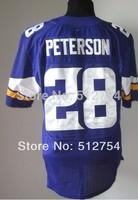 #28 Adrian Peterson Jersey,Elite Football Jersey,Best quality,Authentic Jersey,Size M L XL XXL XXXL,Accept Mix Order