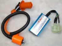 super Racing CDI + coil GY6 50cc 80cc 125cc 150cc Scooter Ignition Coil +  6 pins CDI box chinese scooters
