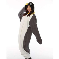 New Adult Animal Gray Penguin Cosplay Pajamas Onesie Sleepwear Costume