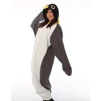 New Adult Animal Gray Penguin Cosplay Pajamas Onesie Sleepwear Costume