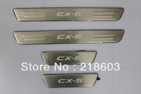 WELCOME PEDALS/ THRESHOLD/ SCUFF PLATE  LED COLD LIGHT LAMP/WHOLESALE FOR MAZADA CX 5 2012 2013