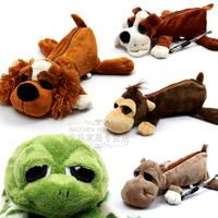 Cute Plush Dog Doll Pencil Case Mobile Phone Bag Storage Pen Holder Best Gift For Children Free Shipping