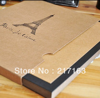 Free Shipping Perfect Binding Paper Pages Eco-friendly A4 Size cowhide large photo album