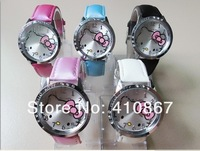 Free Shipping 5 Pcs/lot KT001,Hello Kitty Children Gift,Quartz Wrist Hello kitty Watch Christmas Gift Watch