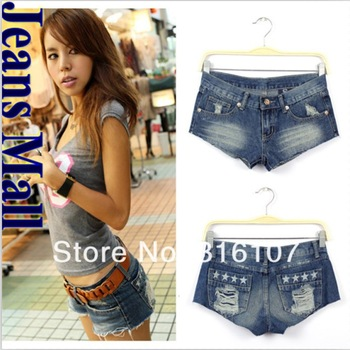 2013 HOT!!!Sexy ladies hole denim shorts women denim shorts high quality Girl denim short pants free shipping