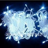 free FEDEX 10pcs/lot christmas garland 10M 100leds AC110/220V,fairy lights led tree light multicolor white christmas led light