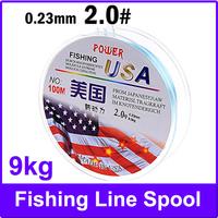 2.0# 100m Long 0.23mm Diameter 9kg Abrasion Resistant Fishing Line Spool Fishing Rope