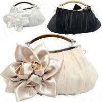 2014 New Lady's Fashion Big Flower Handbags Korea Sexy Banquet Bags for Dinner Party Elegant Purse 12-B422 (beige, black, white)