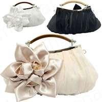 2014 New Lady's Fashion Big Flower Handbags Korea Sexy Banquet Bags for Dinner Party Elegant Purse 12-B422 (beige, black, white)