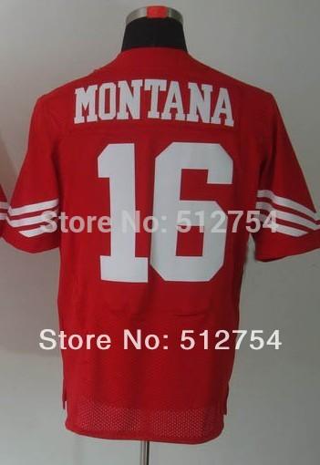 #16 Joe Montana Jersey,Elite Football Jersey,Best quality,Authentic Jersey,Size M L XL XXL XXXL,Accept Mix Order(China (Mainland))
