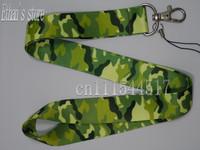 Free Shipping camo neck lanyard Army Green  Key strap  ID Holders