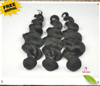 Free Shipping Brazilian Hair loose Wave 4pcs lot,100% Virgin Remy Hair Human Extension deep Weave Weft,Can be dyed