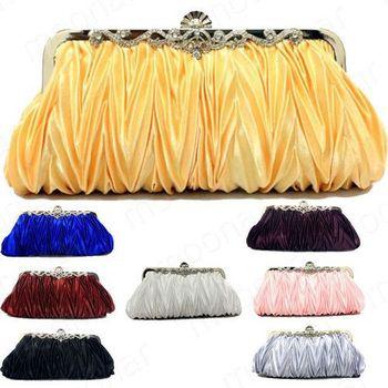 2014 korea fashion polychrome silk fabrics handbags women bags handbags 12-B423 8 colors free shiping#S5