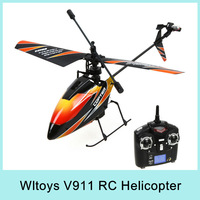 New Version 4CH 2.4Ghz WLtoys V911 RC Helicopter Radio RTF single propeller LCD Display Gyro with New Battery Gift For Kids