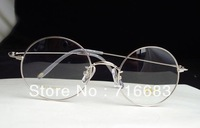 Brand New Vintage Retro Round Gold Black Silver Stainless Steel Eyeglass Frame Eyewear Flexible Spectacles Optical