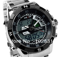 Hot Sell ! Top Brand Fashion Sports Multifonction Chronograph Digital Men's Army Military Steel Hand Watch