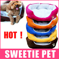 Free Shipping 5Color Colorful Pet Cat and Dog bed Pink,Orange,Blue,Yellow,Coffee Size S,L, HOT !(China (Mainland))